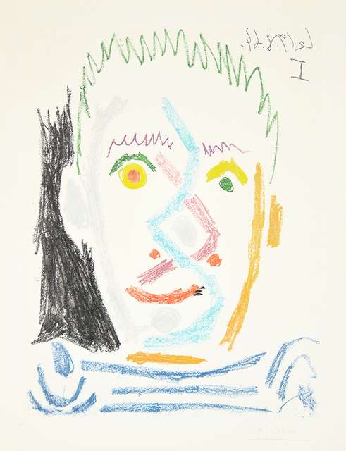 Pablo Picasso, 'Tete d'homme au maillot raye (Man's Head with Striped Shirt), ', 1964, Masterworks Fine Art