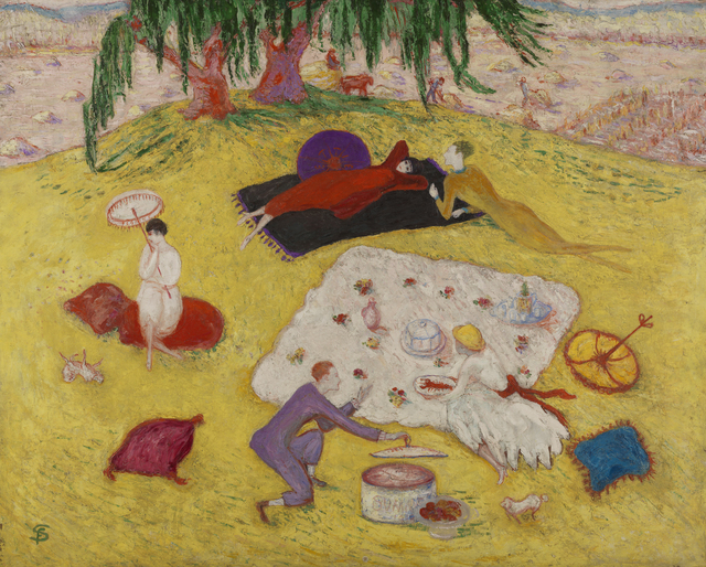 , 'Picnic at Bedford Hills,' 1918, Norton Museum of Art