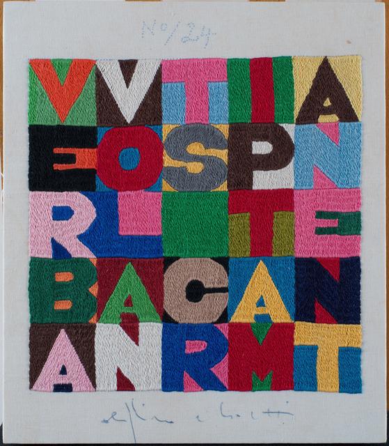 , 'Verba volant scripta manent,' 1987, Erica Ravenna Fiorentini Arte Contemporanea