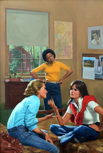 Robert Berran, 'You're No Friend of Mine, Girls of Canby Hall Book Cover', 1984, Painting, Oil on Board, The Illustrated Gallery