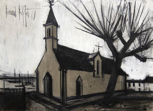 Bernard Buffet, 'Église de Sainte-Marine', 1968, Painting, Oil on canvas, Heather James Fine Art