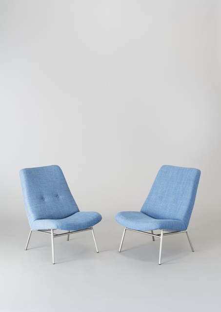 Pierre Guariche, 'Pair of chairs SK660', 1953, Design/Decorative Art, Chromed metal, foam and fabric, Galerie Pascal Cuisinier