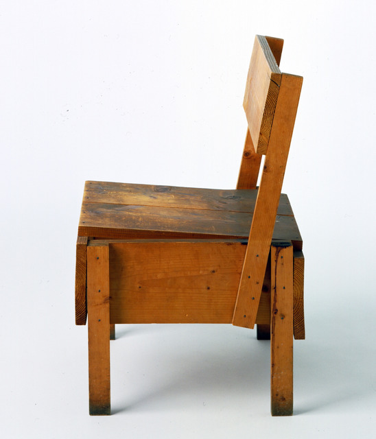 , 'Proposal forun'autoprogettazioneSedia chair (Proposta perun'autoprogettazione (sedia)),' 1973, Triennale Design Museum
