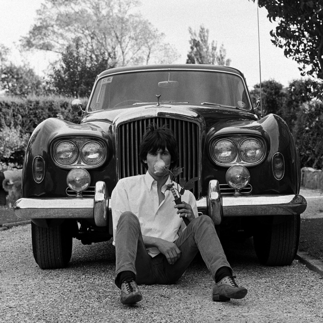 , 'The Rolling Stones - Keith with his Bentley, Blue Lena,' 1966, Snap Galleries