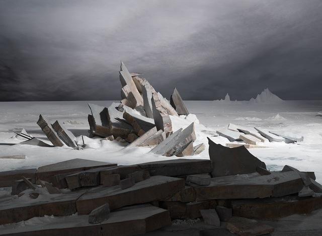 James Casebere, 'Sea of Ice', 2014, Sean Kelly Gallery
