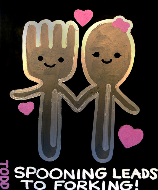 , 'Spooning Leads to Forking,' , The Ross Art Group Inc.