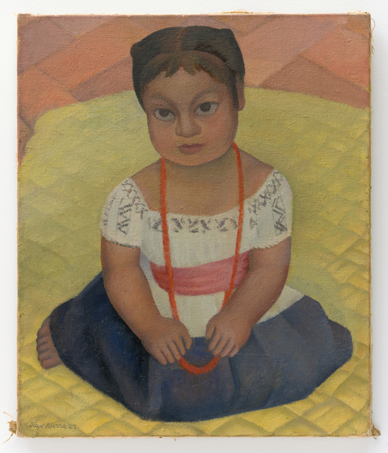 Diego Rivera, 'Kneeling Child on Yellow Background (Mexican Girl-Child)', 1927, San Francisco Museum of Modern Art (SFMOMA)
