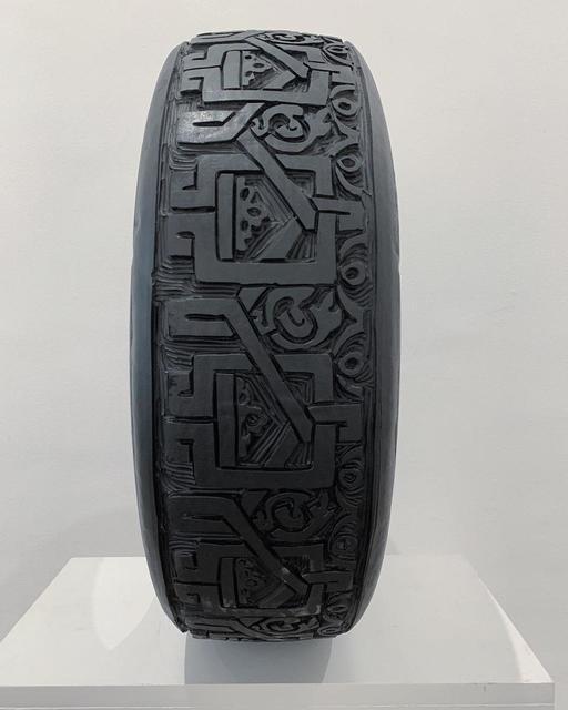 Betsabeé Romero, 'Ciudades que se van ', 2005, Sculpture, Etching on Tire, MAIA Contemporary