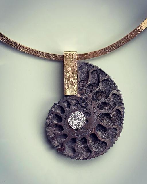 , 'Ammonite Pendant on Collar,' 2019, Grima