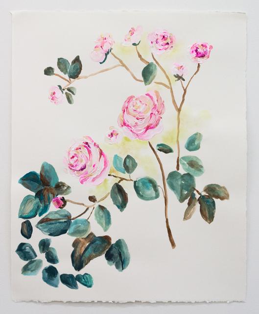 Elisa Johns, 'Wild Roses 2', 2018, Morgan Lehman Gallery