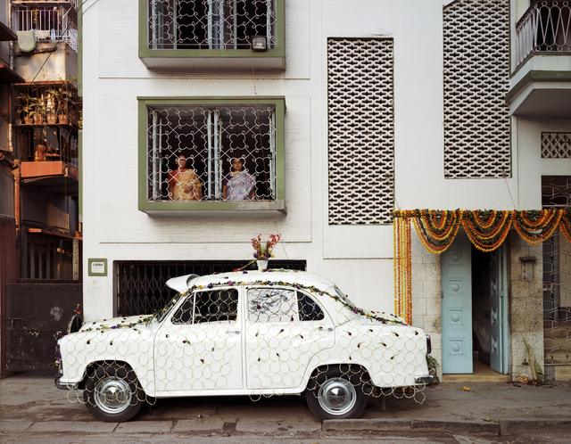 , 'Ambassador Car Decorated for a Wedding by a Net Strung with Fresh Flowers, South Kolkata,' 1998, Benrubi Gallery