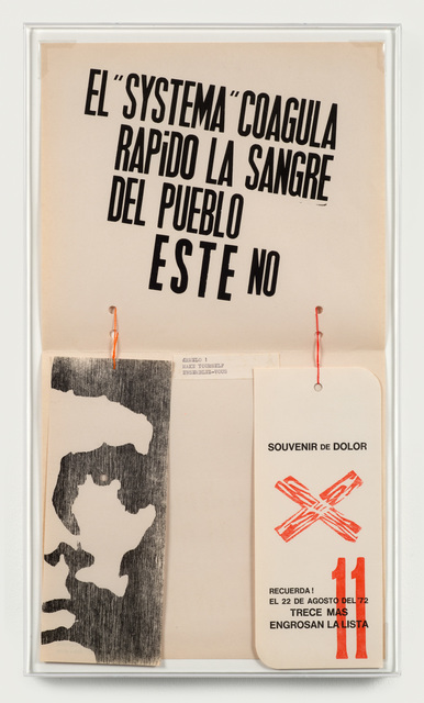 Edgardo Antonio Vigo, 'The System Rapidly Coagulates the Blood of the People. This does not.', 1972, Richard Saltoun