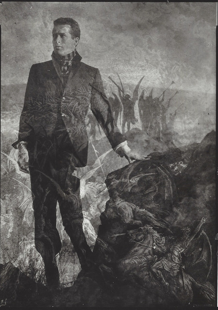 ", 'Kenneth Anger & Durer ""Ascension"", Topanga Canyon,' 1954, Elizabeth Houston Gallery"
