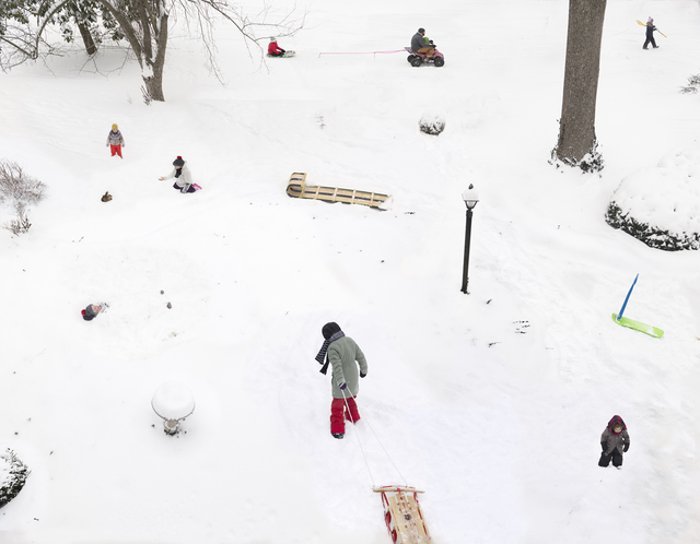 Julie Blackmon, 'Snow Days', 2021, Photography, Archival pigment print, G. Gibson Gallery