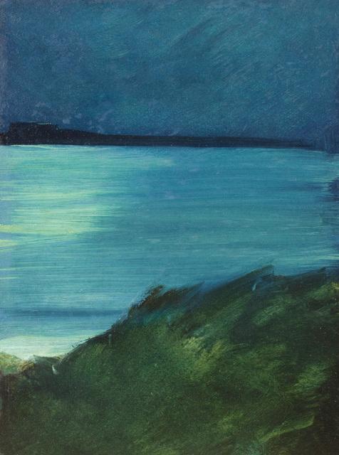 Henry Prellwitz, 'Moonlight Bay', Date unknown, Painting, Oil on board, Questroyal Fine Art