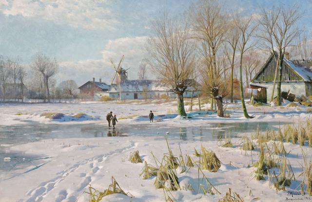 Peder Mork Monsted, 'Winter's Magic', 1922, Galerie Kovacek & Zetter
