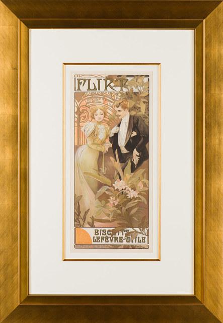 Alphonse Mucha, 'Flirt (Biscuits)', ca. 1900, Galerie d'Orsay