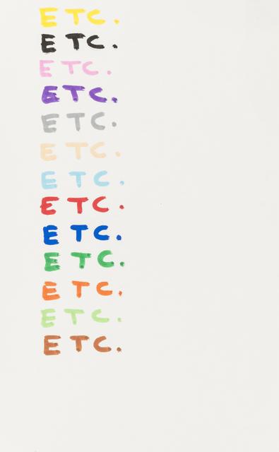 , 'Etc.,' 2007, RAW Editions