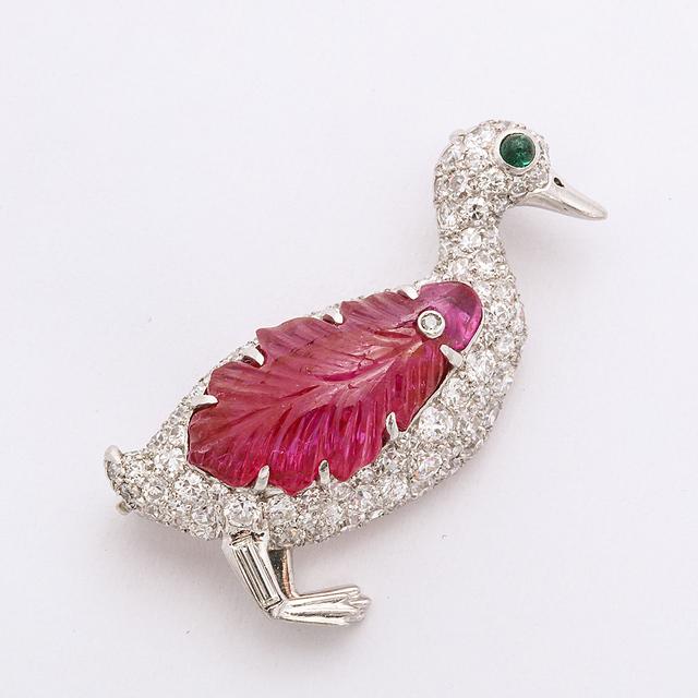 Raymond Yard, 'Pavé Diamond Duck Brooch ', A La Vieille Russie