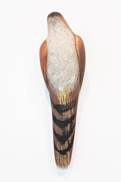 Jane Rosen, 'TOBACCO LACE LARGE BIRD', 2018, Sculpture, Handblown pigmented glass, Traver Gallery