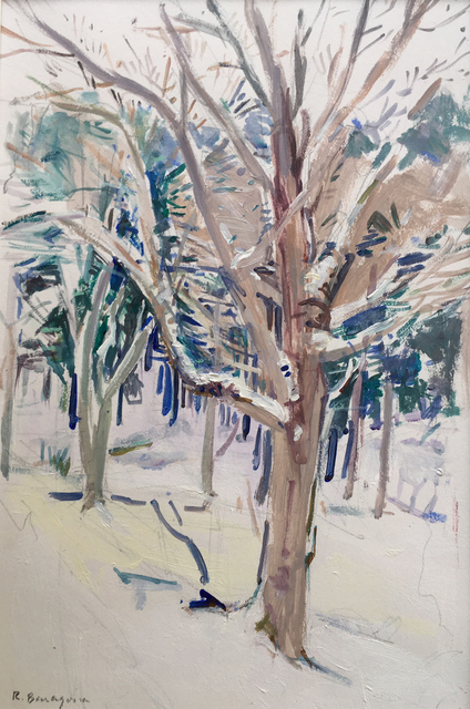 , 'Snow Branches,' 2018, Hal Bromm