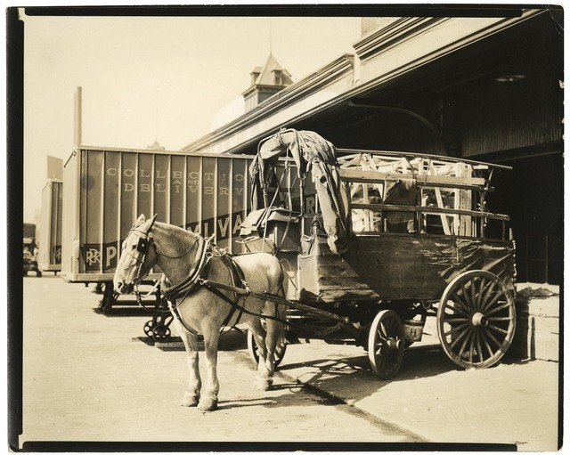 , 'West Street: Horse and Wagon.,' 1936, The Old Print Shop, Inc.