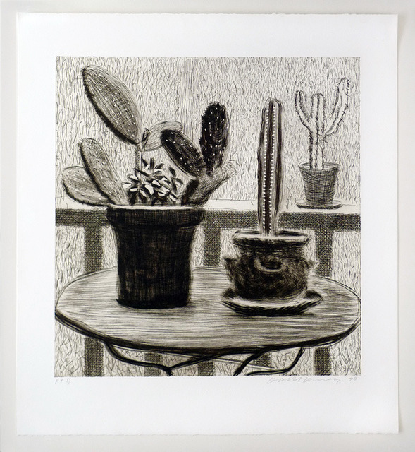 David Hockney, 'Cacti on Terrace', 1998, Nikola Rukaj Gallery