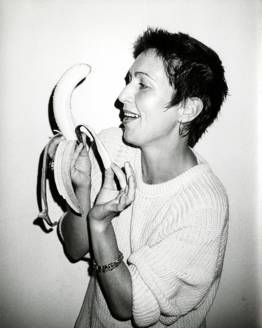 Andy Warhol, 'Pat Hackett with a Banana', 1986, Photography, Silver gelatin print, Hedges Projects
