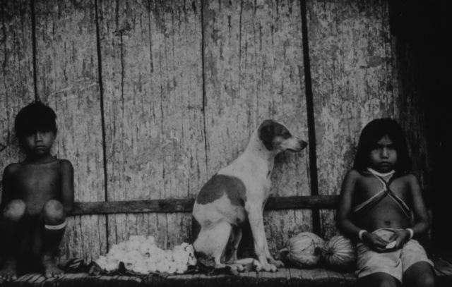 Mirella Ricciardi, 'Marubo Children and Dog Resting', 1965-1970, Photography, Platinum Palladium Print, Bernheimer Fine Art