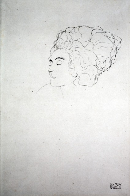 Gustav Klimt, 'Woman's Head [Fünfundzwanzig Handzeichnungen]', 1919, Jason Jacques Gallery