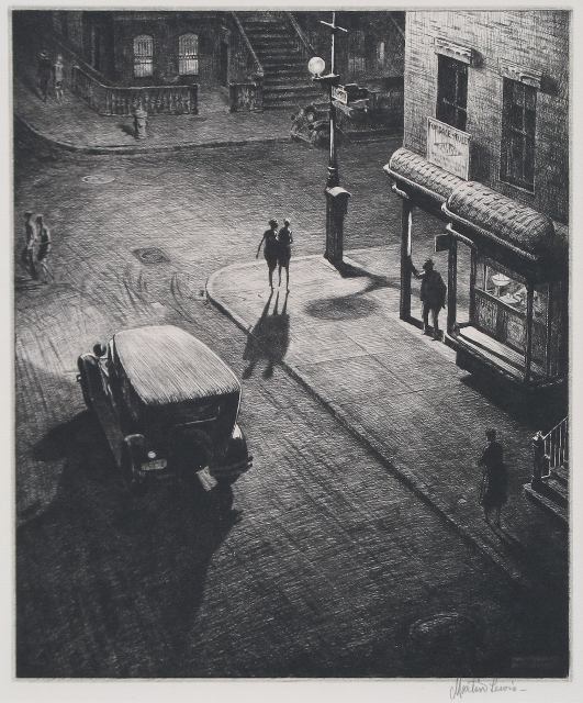 ", '""Relics"" (Speakeasy Corner),' 1928, Catherine E. Burns Fine Prints"