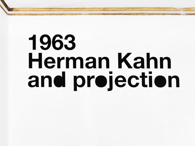 , '1963 Herman Kahn and projection,' 2012, Alfonso Artiaco