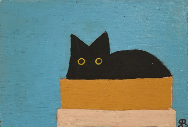 , 'Cat in a Box (blue),' 2020, BoxHeart