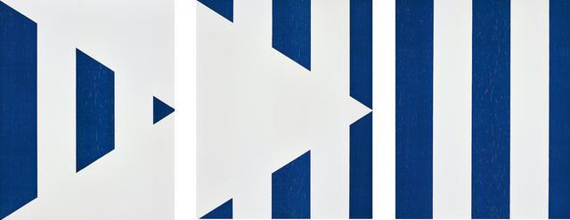 Daniel Buren, '1 + 2 = 3 (Triptych), from Sequences', 1998, Phillips