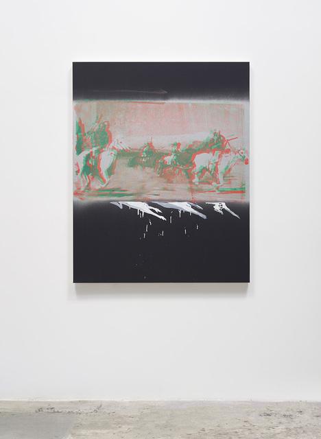 Tala Madani, 'The Silver Belt', 2019, Painting, Oil and spray paint on linen, David Kordansky Gallery
