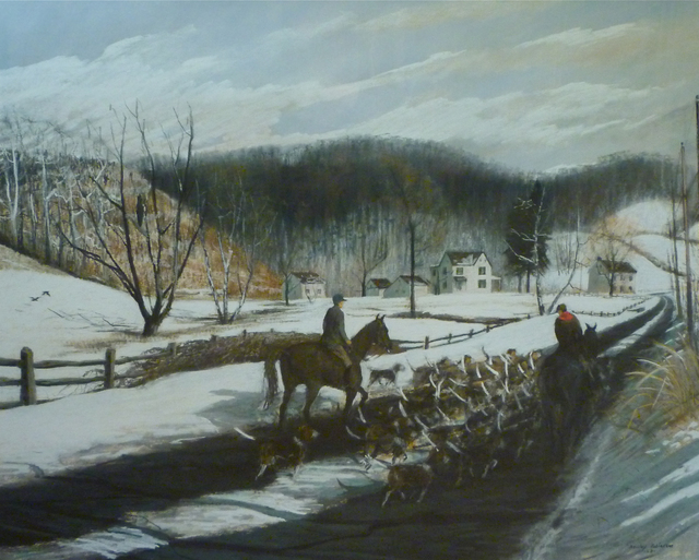 , 'Exercising the Hounds on the Green Valley Road,' 1968, Somerville Manning Gallery
