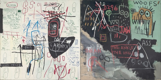 Jean-Michel Basquiat, 'Diagram of the Ankle (The Ankle)', 1982, Yale University Art Gallery