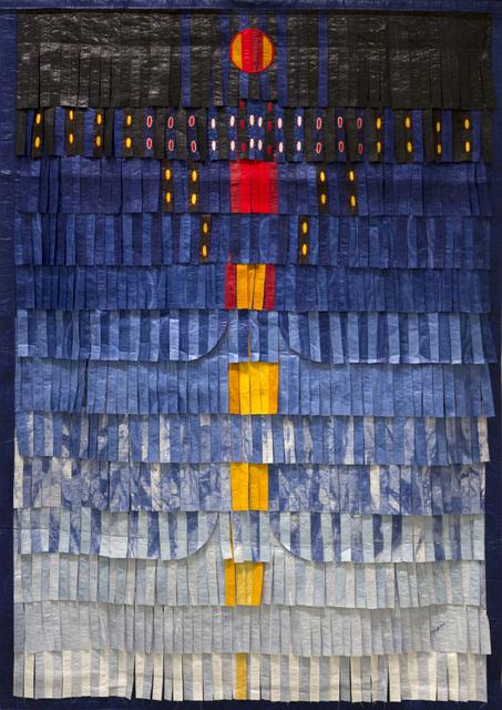 , 'Composition bleu avec orange et jaune,' 2016, Primo Marella Gallery