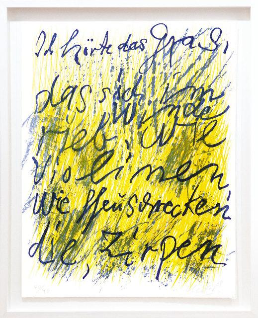 , 'Ich hörte das Gras,' 2008, Galerie Kellermann