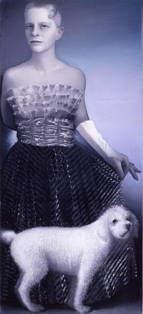 Susan Hauptman, 'Silver Self-Portrait with Dog', 1999, Forum Gallery