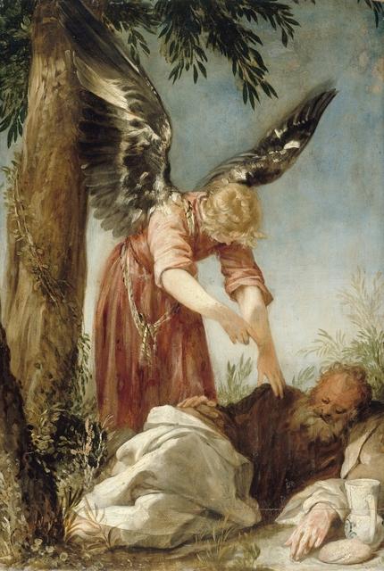 , 'Der Engel erweckt den Propheten Elias in der Wüste,' 1650/60, Gemäldegalerie Alte Meister