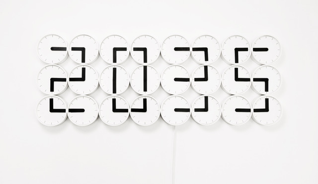 Humans Since 1982, 'ClockClock White,' 2011, Victor Hunt Designart Dealer