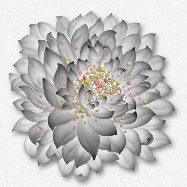 Kate Oh, 'Lenticular Lotus Black&White', 2019, Kate Oh Gallery