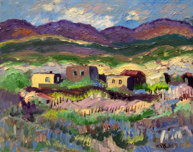 , 'Village by the Mountainside,' 1957, Baterbys Art Gallery
