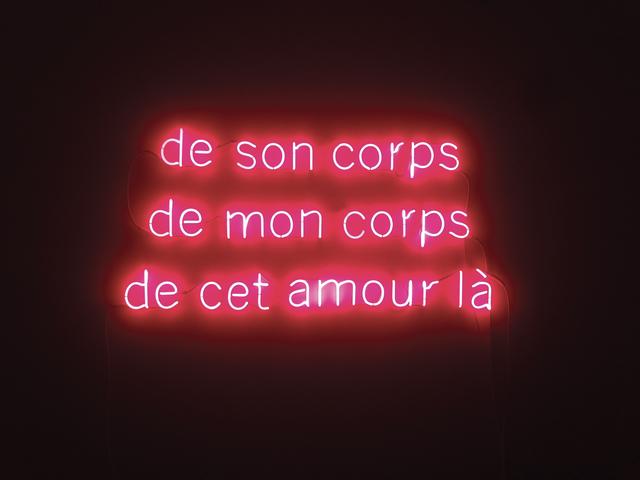 , 'De son corps, de mon corps, de cet amour là,' 2017, Primo Marella Gallery