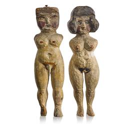 A Pair of Woodbridge Pit Figures