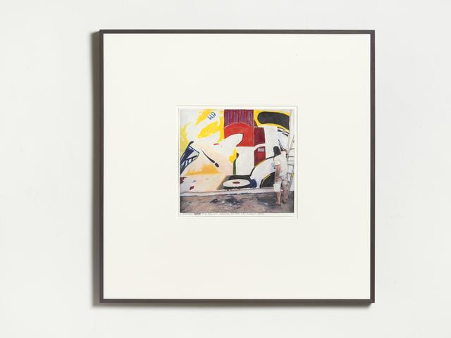 Rinus Van de Velde, 'I already leave the dog out', 2019, Drawing, Collage or other Work on Paper, Color pencil on paper, framed, KÖNIG GALERIE
