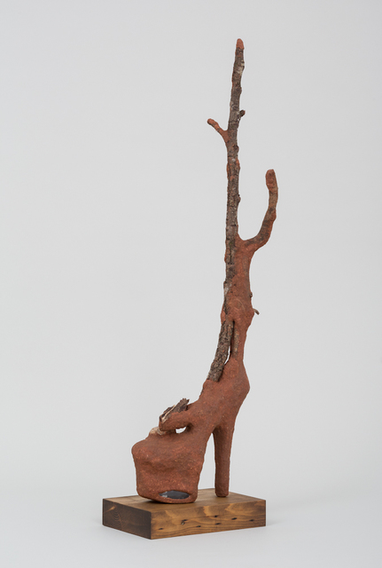 Wangechi Mutu, 'Heeler IV', 2016, Sculpture, Red soil, acrylic shoes, paper pulp, wood glue, rocks, and wood, Anderson Ranch Arts Center Benefit Auction