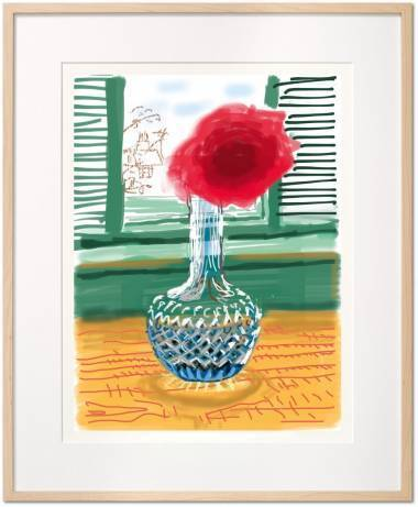 David Hockney, 'My Window. Art Edition (No. 251-500)  'No. 281', 23rd July 2010', 2019, Books and Portfolios, Hardcover in clamshell box, signed by David Hockney; with a signed print of the iPad drawing 'No. 281', 23rd July 2010, 8-color inkjet print on cotton-fiber archival paper, Pop Fine Art