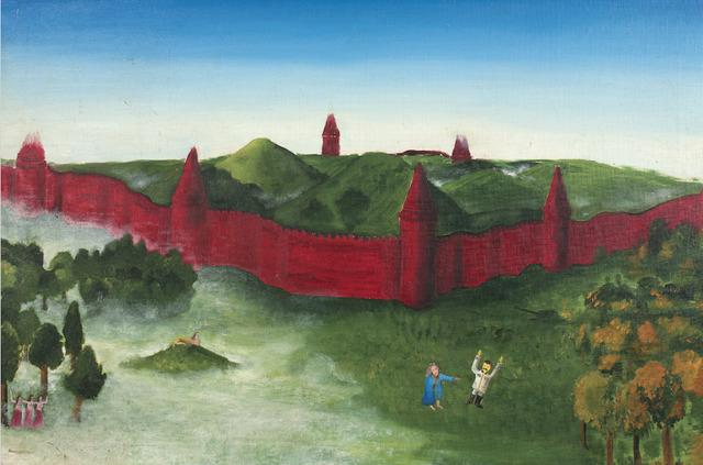 ", '""Captivity of I.V. Stalin by the Irish folk hero Fer Dyad "",' 1989, Transatlantique Gallery"